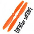 4x 4.5 Propeller Set (one clockwise rotating, one counter-clockwise (orange)